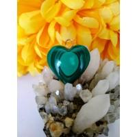 Malachite Heart Pendant 04