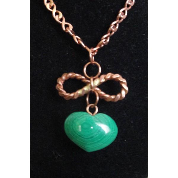 Malachite Copper Infinity Pendant 1