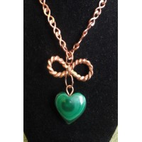 Malachite Copper Infinity Pendant 2
