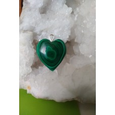 Malachite Heart Pendant 21