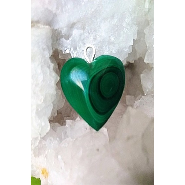Malachite Heart Pendant 24