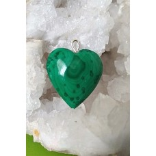 Malachite Heart Pendant 26