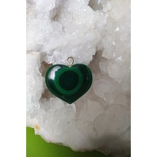 Malachite Heart Pendant 28