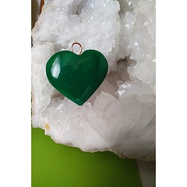Malachite Heart Pendant 31