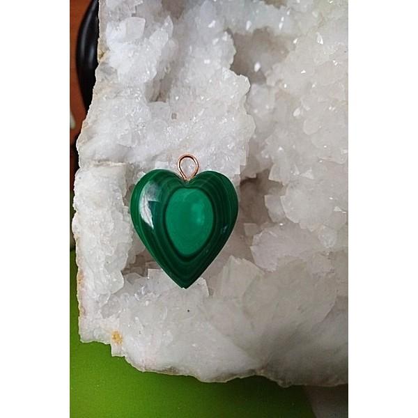 Malachite Heart Pendant 32