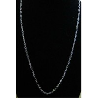 """Cable Sterling Silver Chain 18"""""""