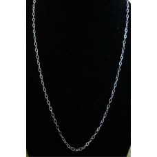 Cable Sterling Silver Chain 18""