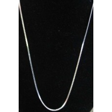 Serpentine Sterling Silver Chain 18""