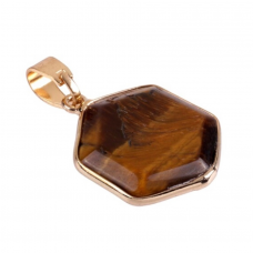 Tiger Eye Hexagon Pendant
