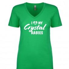 I Love My Crystal Babies - Ladies V Neck Tee
