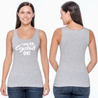 I Love Crystals Ok! - Softstyle Fitted Tank