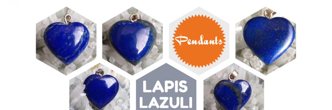 Lapis Lazuli Heart Pendants