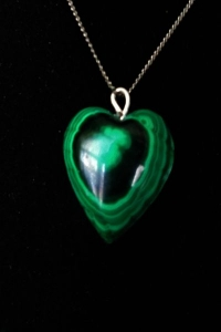 Malachite Heart Pendant 7