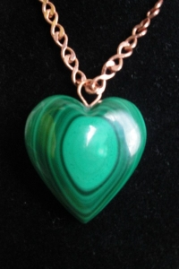 Malachite Heart Pendant 01
