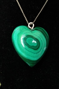 Malachite Heart Pendant 12