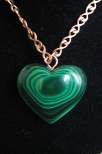 Malachite Heart Pendant 02