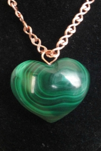 Malachite Heart Pendant 04