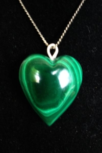 Malachite Heart Pendant 10(SOLD)