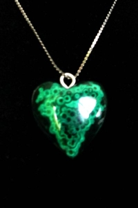 Malachite Heart Pendant 9(SOLD)